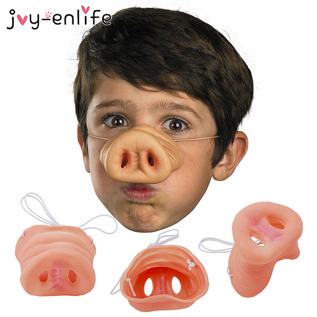 Christmas Pig Nose Silicone Latex Nose Dress Up Costume Props Funny Party Decoration Christmas Scary Mask Supplies