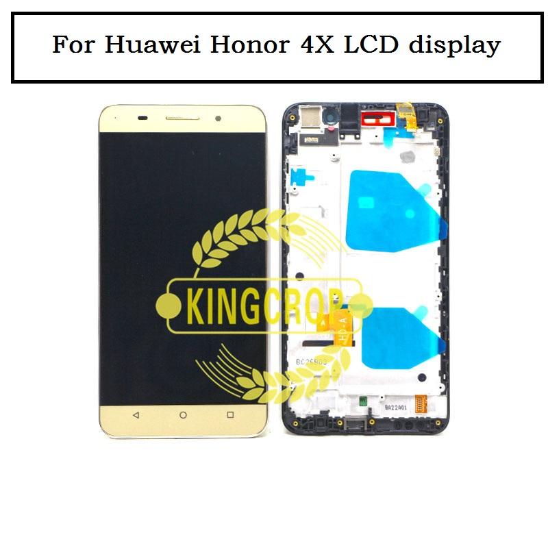 Prix pour 100% Nouveau test LCD Full Affichage Écran tactile Digitizer Couverture assemblée Pour Huawei Honor 4X LCD avec cadre Che2-L11 Livraison gratuite