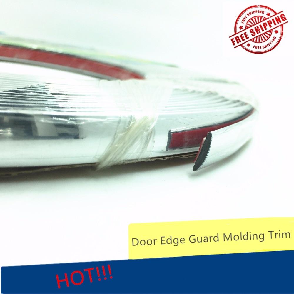 12MM DIY Car Styling Window Bumper Body Strip Door Molding Trim Automotive Useful Sticker Chrome Strip 5 Meters Decoration
