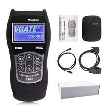 Автомобильный считыватель кодов VS890, диагностический сканер, многоязычный инструмент, VS 890, Автосканер Scantool MaxiScan, вина двигателя OBD2 EOBD JOBD
