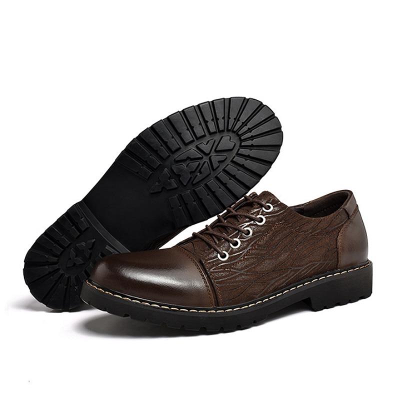 Mocassins brown Desgaste Calçados Homens 2019 Estilo brown Costura Novo Phliy resistente Ao Preto Masculinos Para Os Sapatos Xuan Oxfords Couro Black De Genuíno TBcWc6n