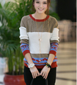 2016 autumn outfit new fashion women clothing fair maiden temperament long-sleeved T-shirt sweater loose sweaters t-shirts D-443