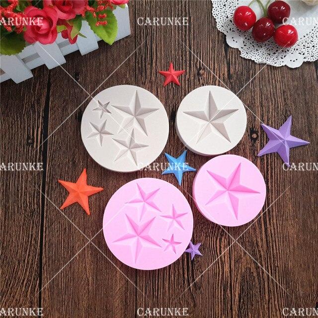 Carunke Star mould Pentagram silicone mould fondant mold Cake
