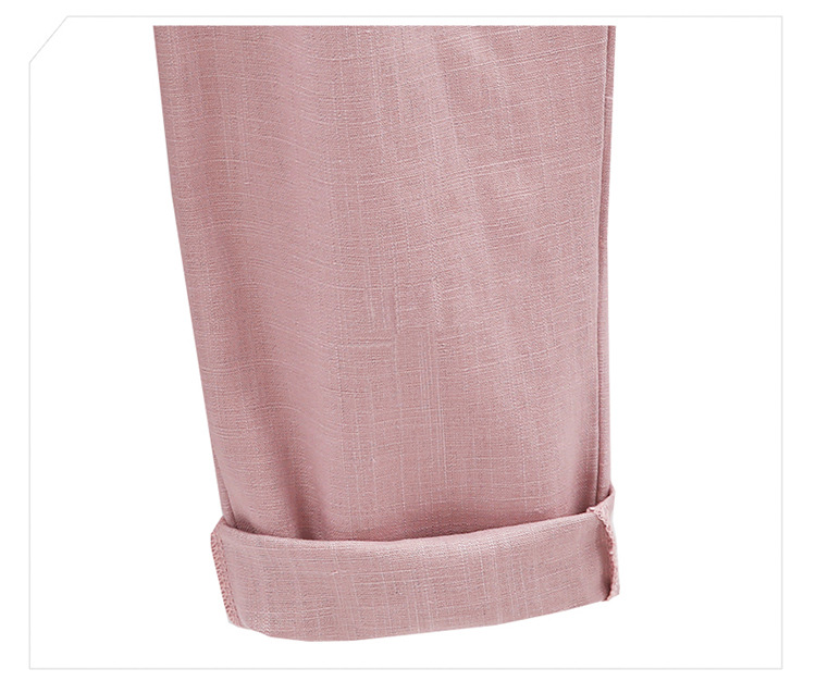 18 Wide Leg Pants Harem Pant Female Trousers Casual Spring Summer Loose Cotton Linen Overalls Pants Plus Size Candy Color 16