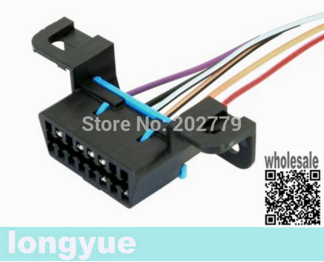 longyue 10pcs OBD2 OBDII Diagnostic Pigtail Connector Harness Corvette CAN  Bus Class 2 E67 E38 30cm wire-in Cables, Adapters & Sockets from