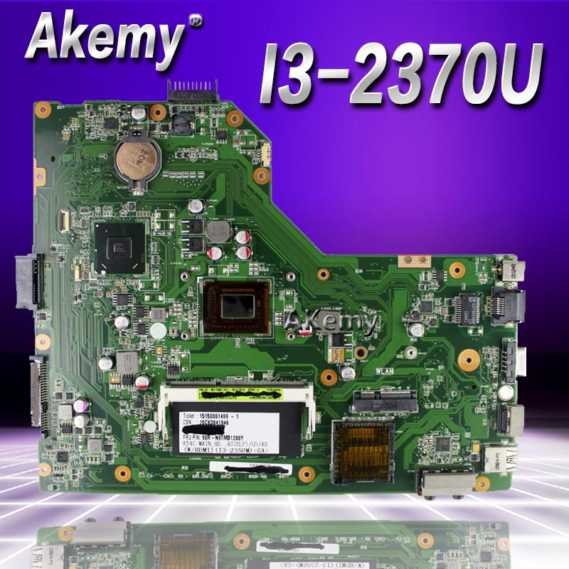 Akemy For ASUS X54C K54C Laptop motherboard hm65 REV.3.0 With I3-2370U test goodAkemy For ASUS X54C K54C Laptop motherboard hm65 REV.3.0 With I3-2370U test good