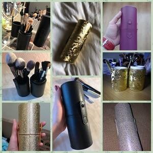 Image 5 - PU Leather Travel Makeup Brushes Pen Holder Storage Empty Holder Cosmetic Brush Bag Brushes Organizer Make Up Tools