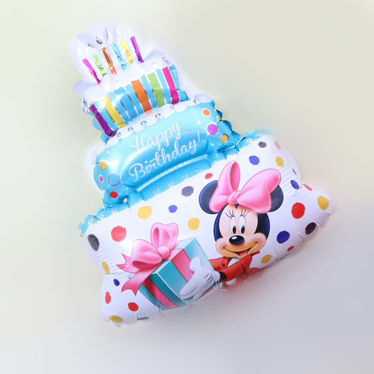 50pcs Mickey Minnie Cake Birthday Party Helium Foil Balloons Inflatable Air Balls Happy Birthday Balloon Party Supplies
