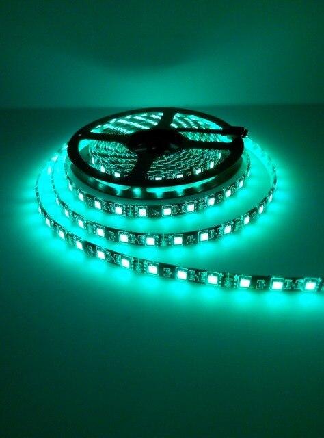 LED Strip 5050 RGB Black PCB 12V Flexible LED Light 60 LED/m5050  RGB/White/Warm White/Blue/Green/Red 1m/2m/3m/4m/5m for choice