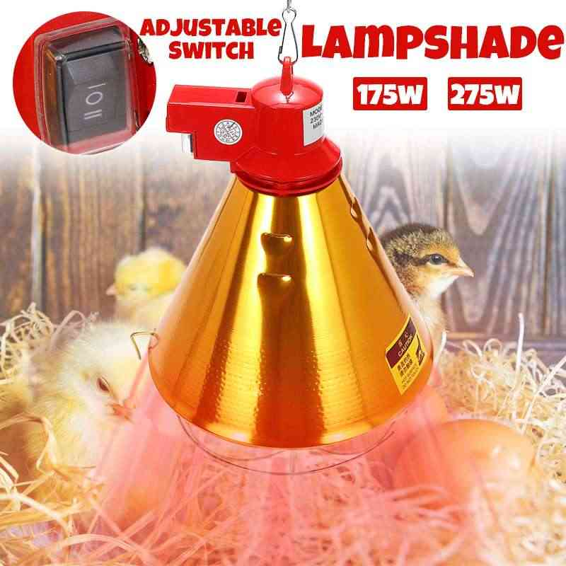 E27 175W 275W Pet Heating Lampshade Infrared Heat Lightshade Pet Brooder Dog Pig Cat Chicken Reptile Lampshade 220-240V for Farm