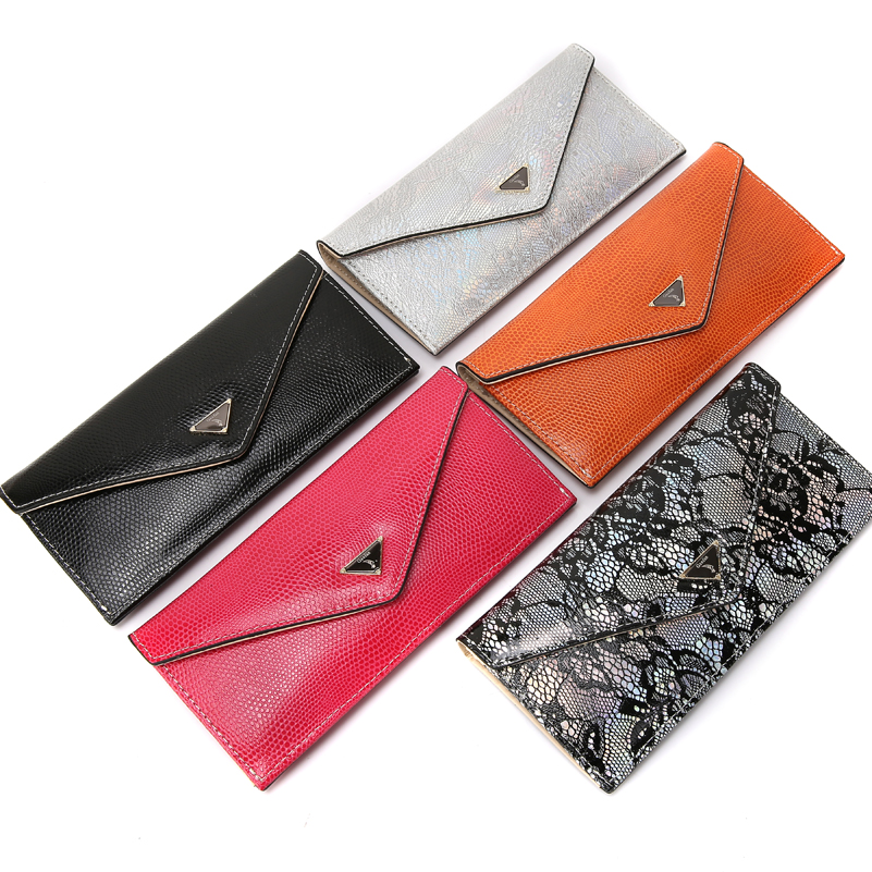 SUONAYI Women Genuine Leather Slim Wallets Female Card ID Holder Clutch Purse Soft High Quality Leather Wallet Brands Designer in Wallets from Luggage Bags