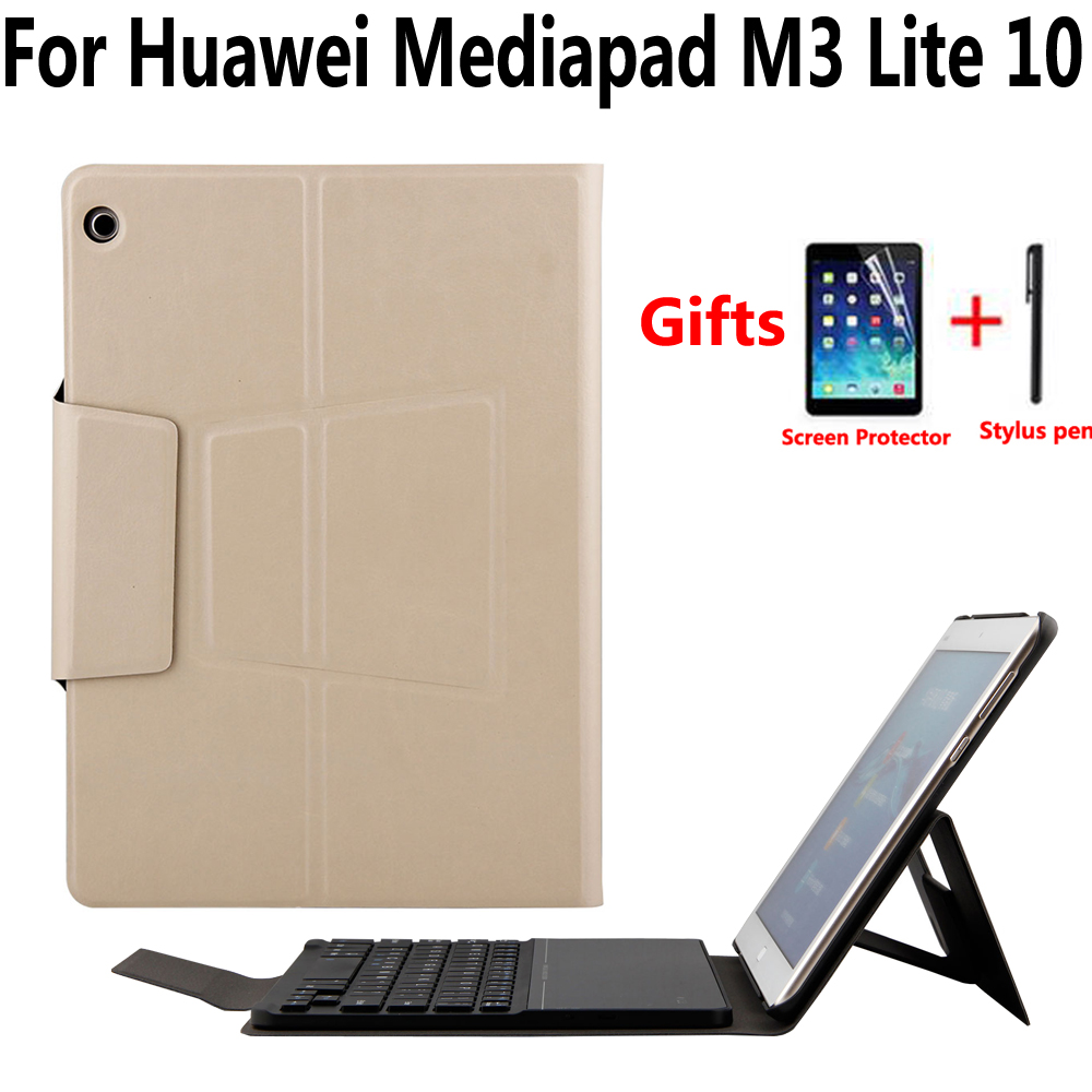 Detachable Wireless Bluetooth Keyboard Case For Huawei Mediapad M3 Lite 10 10.1 Cover Funda Tablet Magnet Smart Stand Skin Shell detachable official removable original metal keyboard station stand case cover