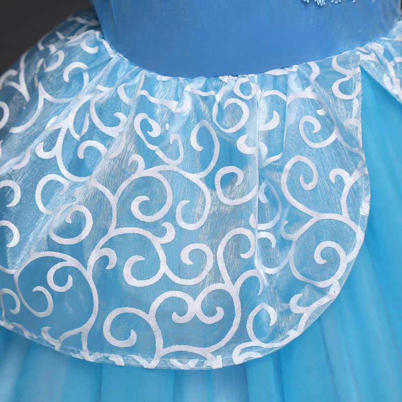 ANGELSBRIDEP פרח ילדה שמלות קצר שרוול כחול טול primera comunion פרח בנות ילדי כדור שמלות תחרות קוספליי שמלות