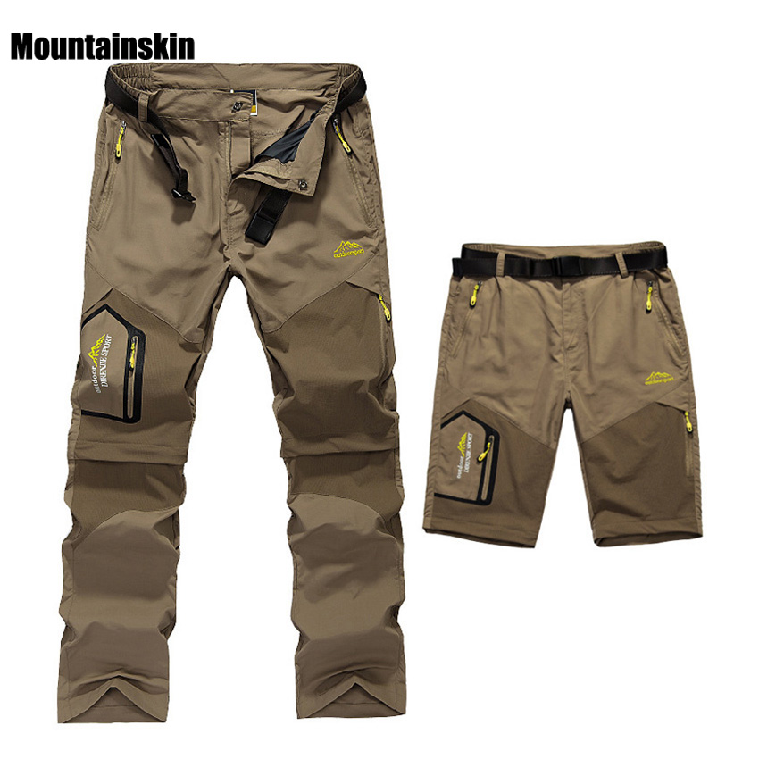 5XL Mens Summer Quick Dry Removable Pants Outdoor Brand Cloting Male Breathable Shorts Men Hiking Camping Trekking Trousers A009 outdoor softshell hiking pants men 5xl 6xl 7xl 8xl waterproof breathable bottoms male trekking sports large size trousers