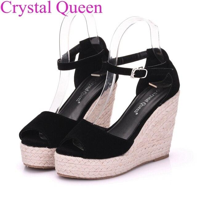 3dececd8d9ca9 Superior Quality Summer style comfortable Bohemia platform Wedges sandals  for Lady shoes high platform open toe flip flops Plus
