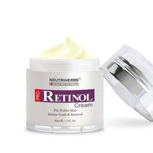 Image 3 - % 2.5% Retinol nemlendirici yüz kremi hyaluronik asit vitamini E kollajen Anti Aging kırışıklık vitamini pürüzsüz beyazlatıcı krem 50ml