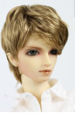 купить JD192 1/4  synthetic mohair wig  BJD doll wig  Nature boyish  7-8inch MSD doll accessories дешево