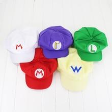 Super Mario Bros Caps Cotton hat Mario Luigi Cosplay Buckle Hats children Adult Hats Cap plush