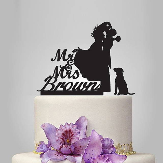 2017 Real Rushed Personalized Acrylic Love Story With 1 Dog Wedding