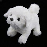 Electronic Pet Dog Interactive Plush Fuzzy Puppy Electric Walking & Baking Animal Robot Toy Fun Kids Game Bichon Frise