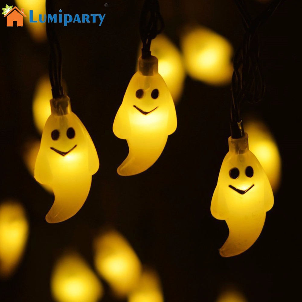 LumiParty 30 LED Solar String Lights Horror Ghost Doll Fairy Light Outdoor Indoor Halloween Christmas Decoration jk25 2 5m 10leds ghost led string lights halloween decoration