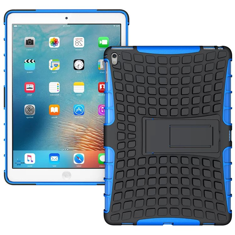Wholesale HH Case For New ipadpro 9.7 Hybrid Kickstand Rugged Rubber Armor Hard PC+TPU Cover Cases For Apple Ipad Pro 9.7 inch