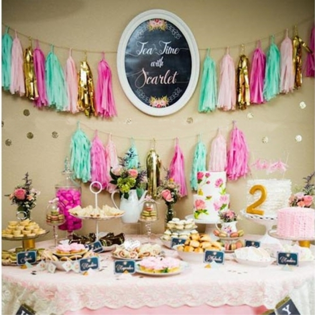 Buy tissue paper tassel garland bunting - Deco pour baby shower ...