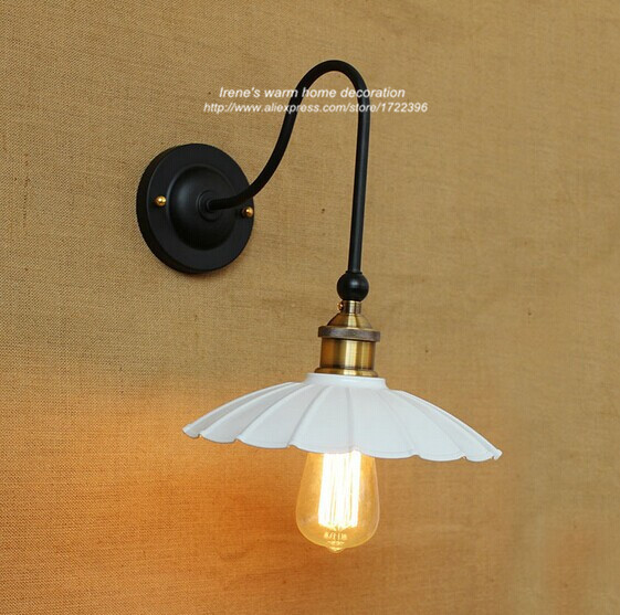 ФОТО Loft Industrial Vintage Style Wall Sconces,Personality Umbrella Light For Bar Aisle Home Room,E27*1 Bulb Included 110V~240V