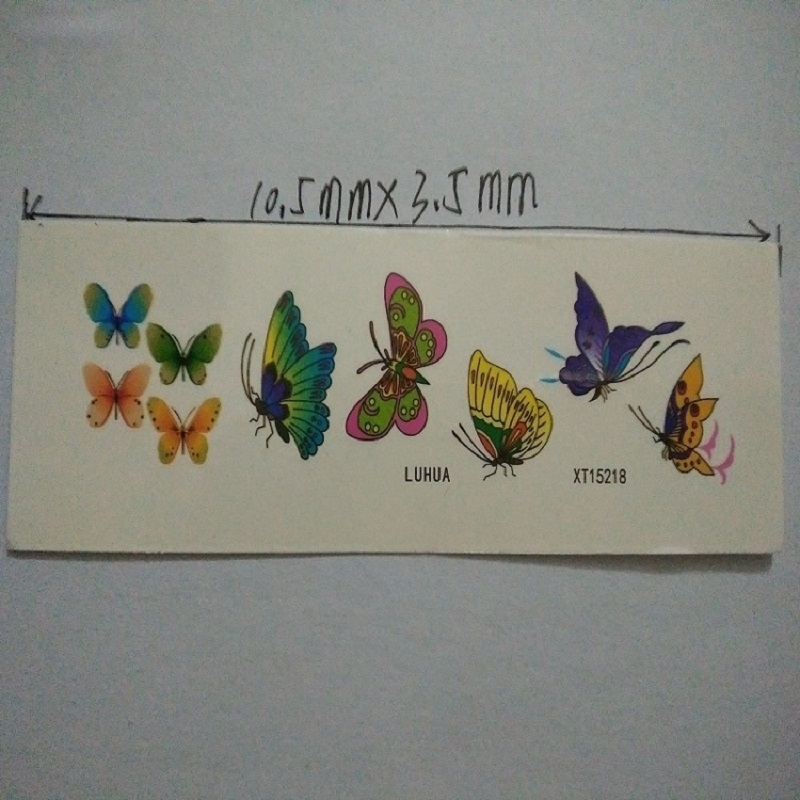 1 Sheet Trendy Waterproof Small Fresh Pattern Tattoo Stickers – Photo Color Charming