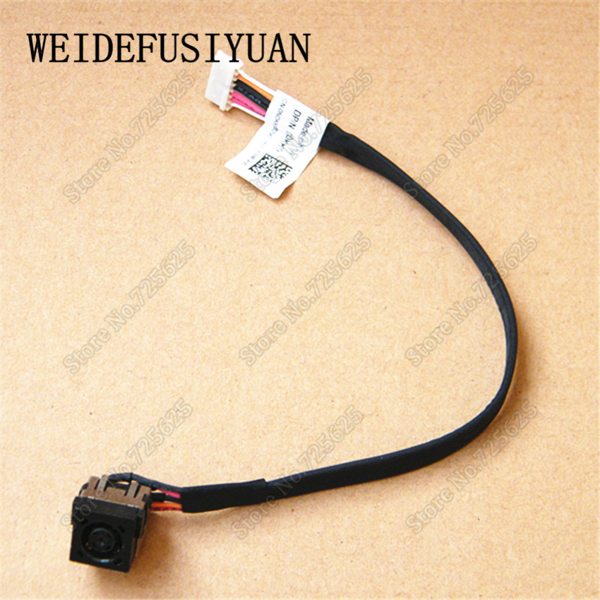 50-100pcs DC Power Jack Socket Connector Wire Harness for Dell Latitude E5520 E5420 DC in Cable DP/N: 0NDKK9 free shipping new laptop dc power jack connector cable wire for dell inspiron 15r n5050 n5040 m5040 p n 50 4ip05 101