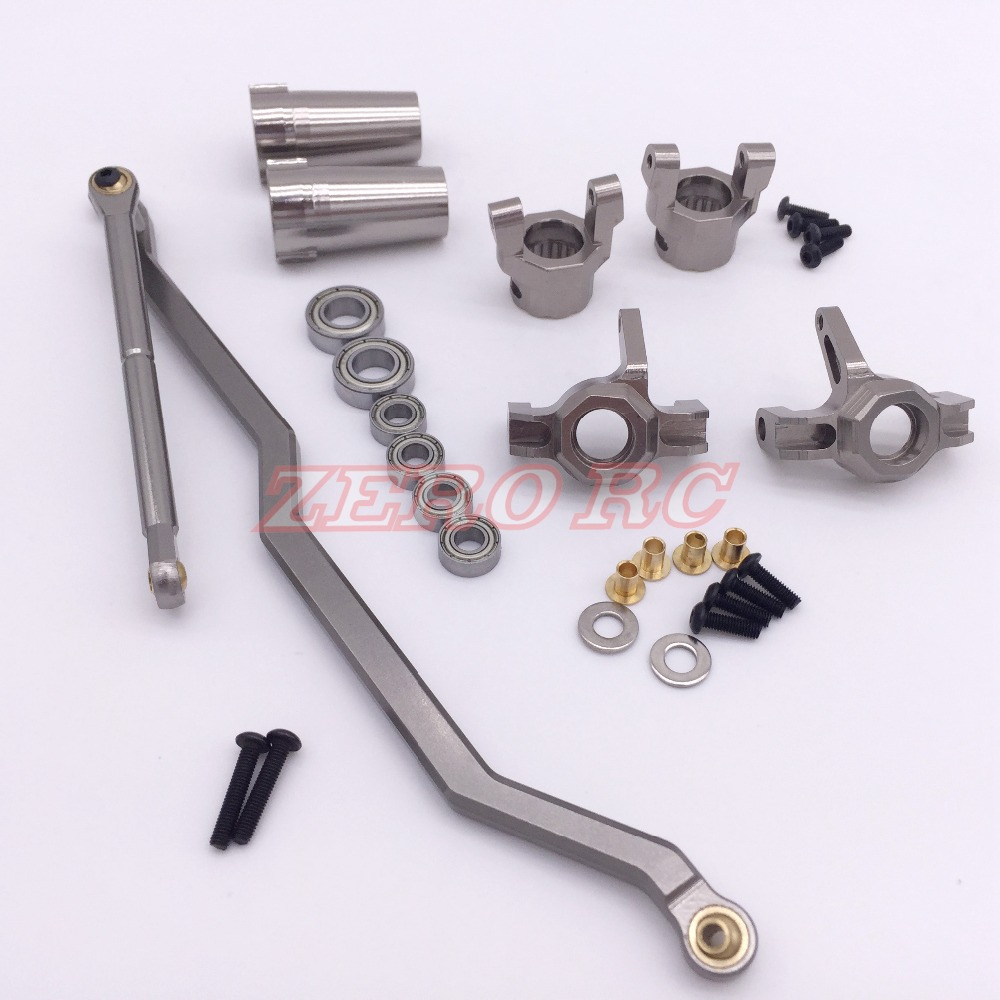 1 10 SCALE METAL Front Steering Link Knuckle C Hub Rear Axle Lock out 6 Bearing
