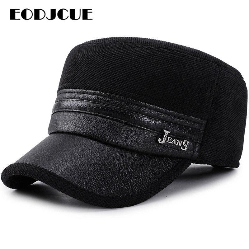 2019 Wholesale Winter   Cap   Men Pu Leather   Baseball     Caps   Brand Snapback Hat Dad Fitted hats Trucker   Cap   Men gorras