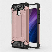for Xiaomi Redmi 4 Version16G [Steel Armor] 2in1 Carbon Fibre Premium Soft TPU + Hard PC Hybrid Back Cover Cell Phone Armor Case