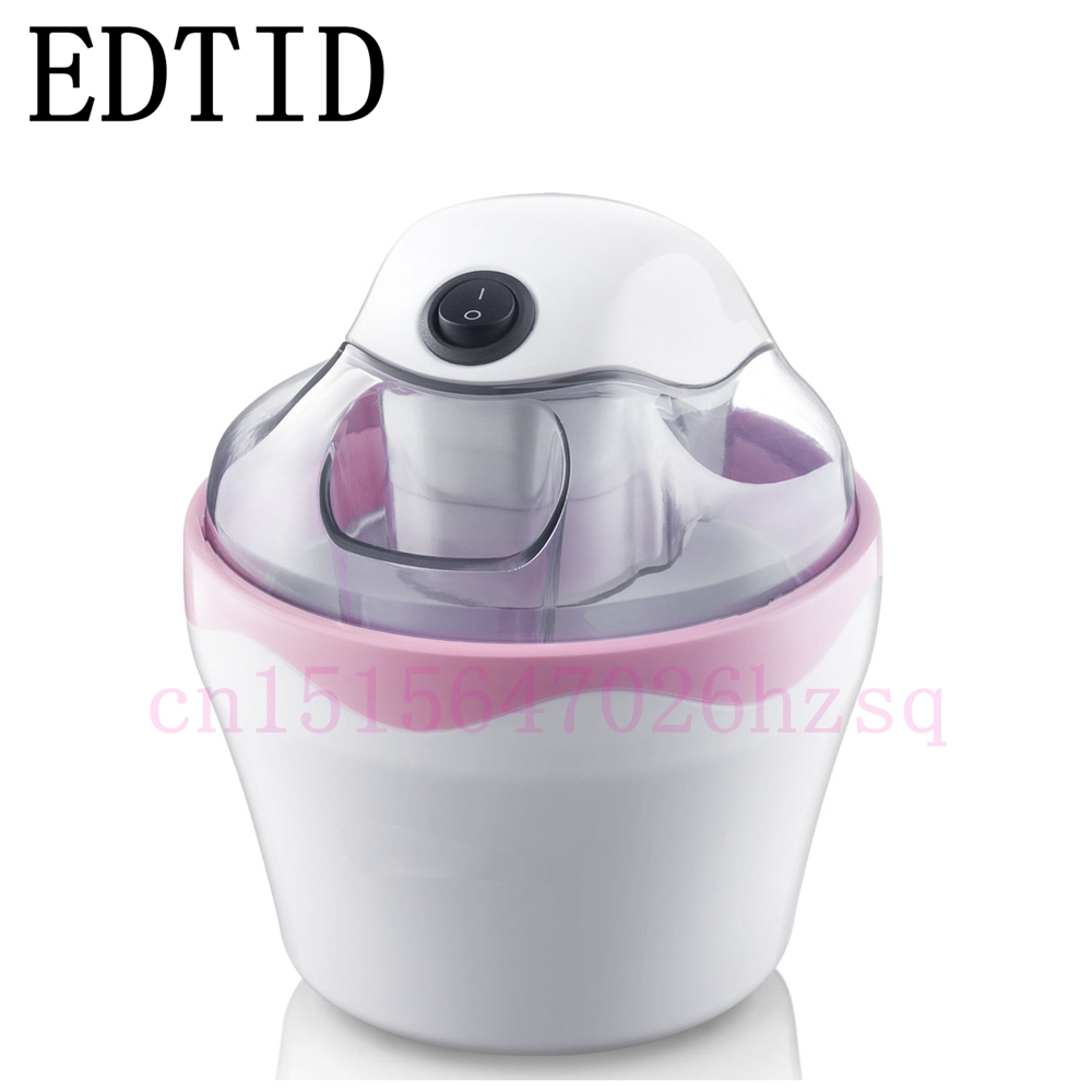 EDTID cooling ice cream machine mini time-saving convinent Double insulation design One button operation Energy saving ice roll edtid new high quality small commercial ice machine household ice machine tea milk shop