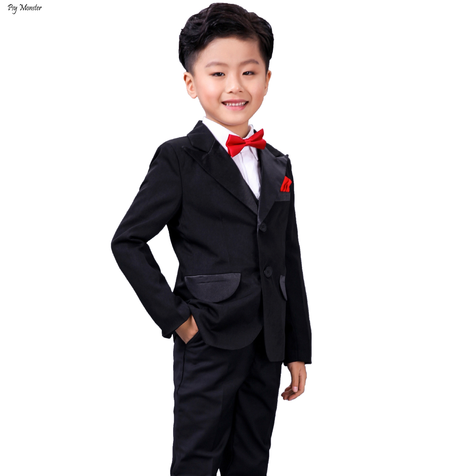 Childrens Formal Suit Flower Boy Host Piano Performance Dress Costume Autumn Winter Kids Prom Birthday Wedding Clothing SetChildrens Formal Suit Flower Boy Host Piano Performance Dress Costume Autumn Winter Kids Prom Birthday Wedding Clothing Set