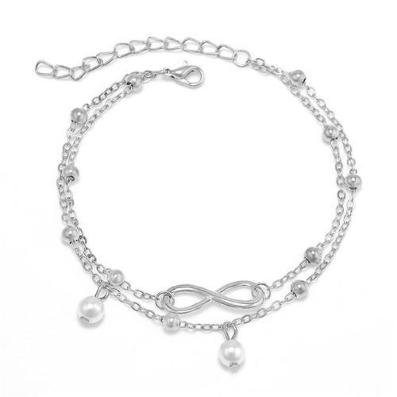 New Vintage Simulated pearl Anklets Foot Jewelry 8 Chain Women Gold Fashion Ankle  Bracelet For Leg Beach Jewelry Enkelbandje-in Anklets from Jewelry ... 8a57e24d1be9