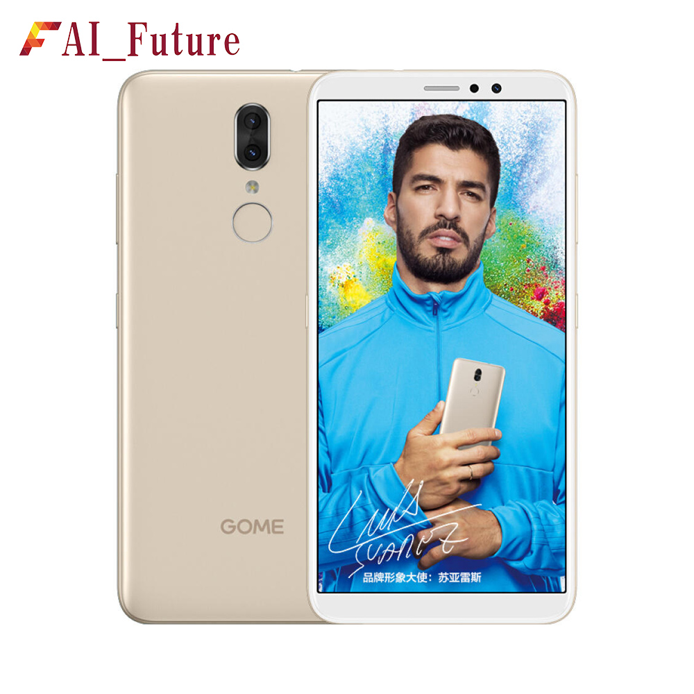 Original Gome Fenmmy Note Mobile Phone 5.99 inch Octa Core Face voiceprint fingerprint triple biometric recognition Android 8.0