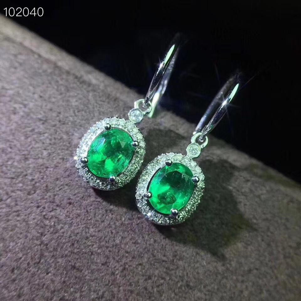 natural green emerald drop earrings S925 silver Natural gemstone earring women personality square for women party gift jewelrynatural green emerald drop earrings S925 silver Natural gemstone earring women personality square for women party gift jewelry