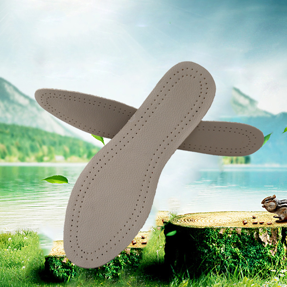 Shoe Pad Ultra Thin Breathable Deodorant Leather Insert Insoles Absorb Sweat Replacement Boots Insoles Outdoor Sports Comfy