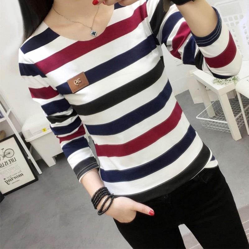 HTB1xa2kywKTBuNkSne1q6yJoXXai - Autumn Korean Female harajuku Long Sleeve T-shirt Women Colorful