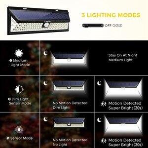 Image 3 - 4 Pack LITOM 102 LED Drahtlose Solar Lichter Outdoor Garten Helle Motion Sensor Sicherheit Lichter Wasserdichte IP65 heißer Luces Solares