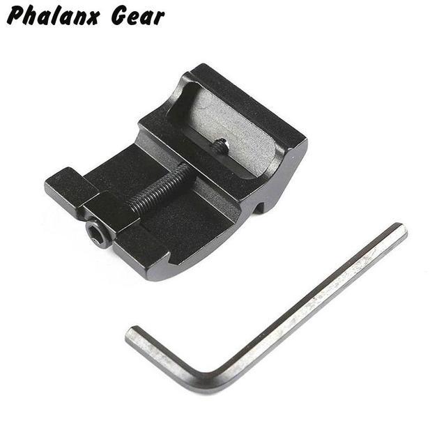 Ultra Low Profile Offset Picatinny Rail Mount 45 Graden 3 Slot 20mm Adapter Weaver AR 15 Scope Red Dot vergrootglas Zaklampen