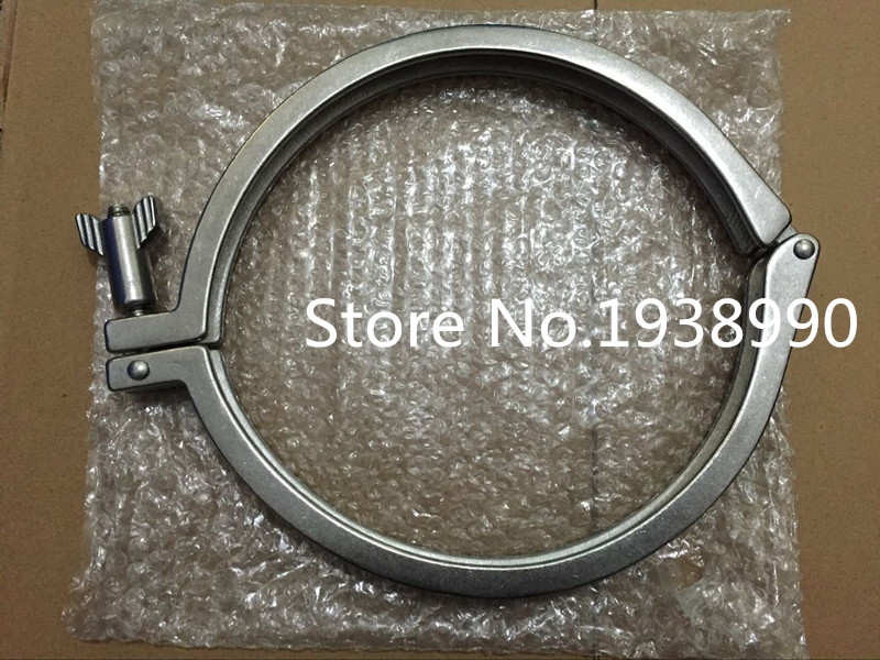 6 159mm Tri Clamp Clover 304 Stainless Steel Heavy Duty Fit OD 183 MM Ferrule megairon tri clover sanitary spool tube with 51 64mm ferrule clamp ss316 4 6 8 12 18 24 length tube thickness 1 5mm