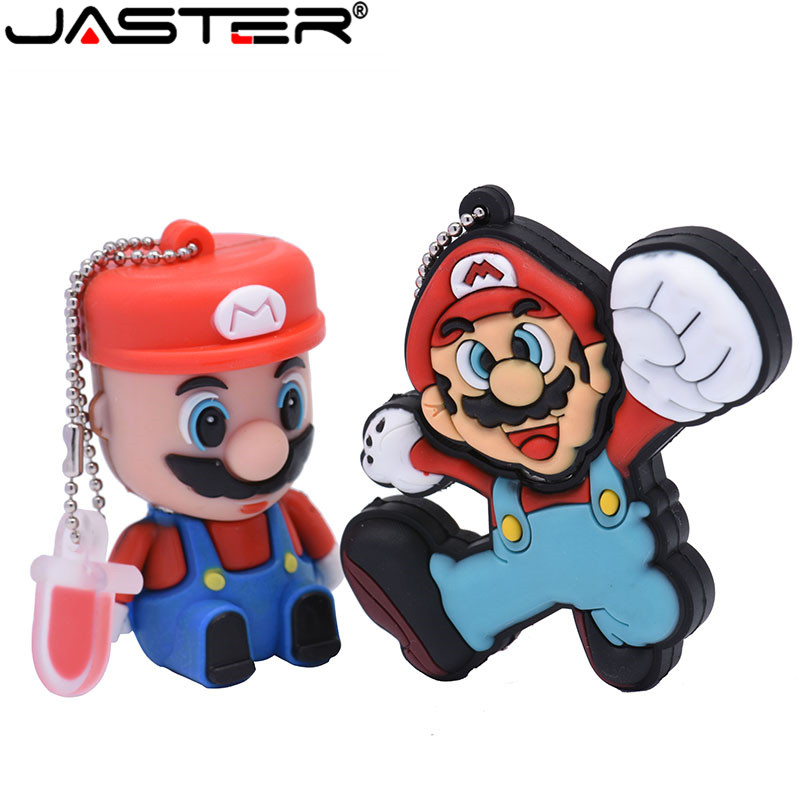 Pen Drive Cartoon Run Super Mario 32GB Flash Drive 16gb Pendrive 4GB Gifts Usb Flash Drive Silicone Mary 8GB Usb Disk Keychain