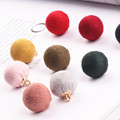 Diy Jewelry Accessory 50pcs/lot Colorful Suede balls Cartoon Rounds Shape Charms Fit Necklace/Bracelet/Earring/KeyChain Pendants