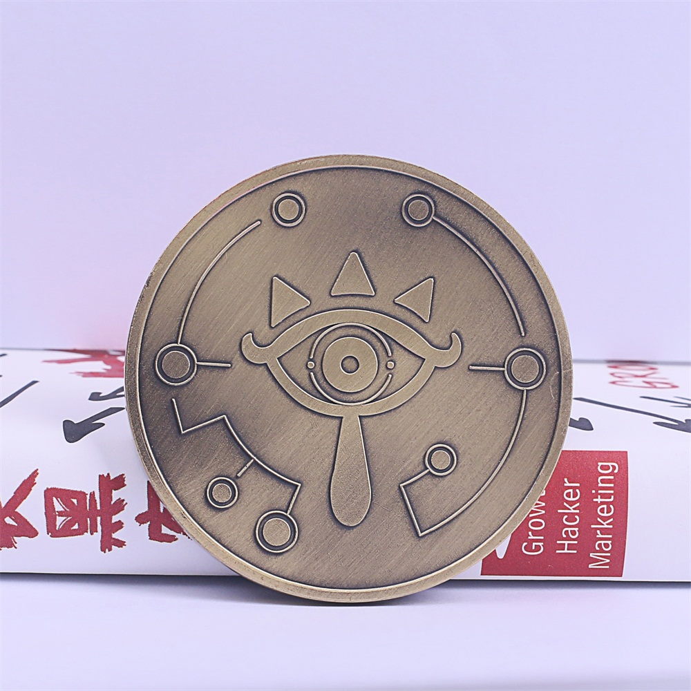 Hot Game The Legend of Zelda Cosplay Breath of the Wild Special Collectible Coin Handmade New Halloween Party (5)