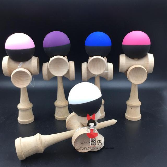 TWB varejo metade pedaço pintura De Borracha 5cup Jogo kendama bola habilidades de pintura flexível