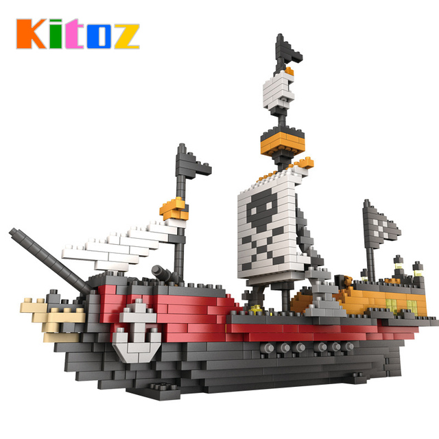 2017 Pirates Of The Caribbean Bounty Pirate Ship Black Pearl Boat 3D ...