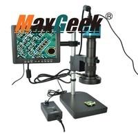 14MP 180X HDMI USB Digital Industry Microscope Set Camera Zoom Lens