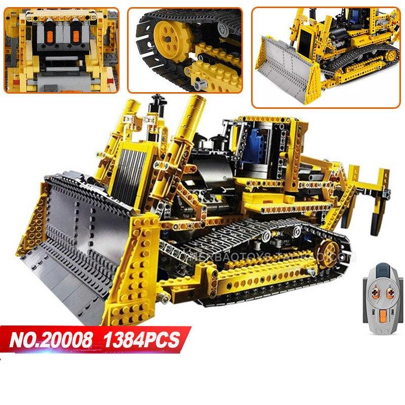 LEPIN 20008 technic série 1384 pièces le Legoing 42030 bulldozer modèle blocs de construction briques compatibles 8275 garçons cadeaux de fête d'anniversaire